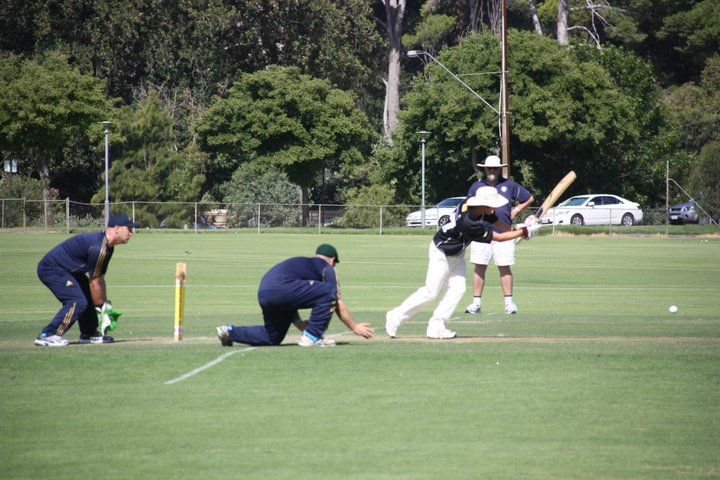 Great shot of Blind Cricket action