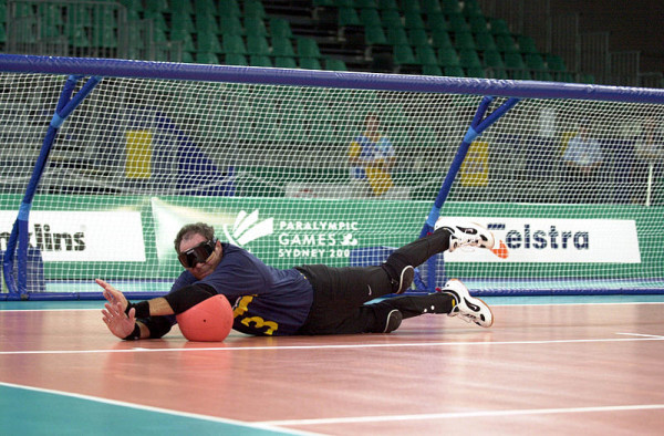 241000   Goalball Warren Lawton Penalty Save   3b   2000 Sydney Match Photo1 E1363269398378