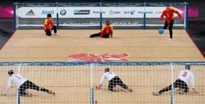 china and Iran battle at Paralympic Goalball